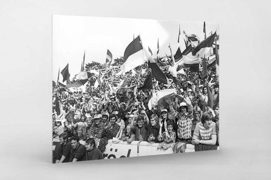 Halle Fans 1977 als Direktdruck auf Alu-Dibond hinter Acrylglas