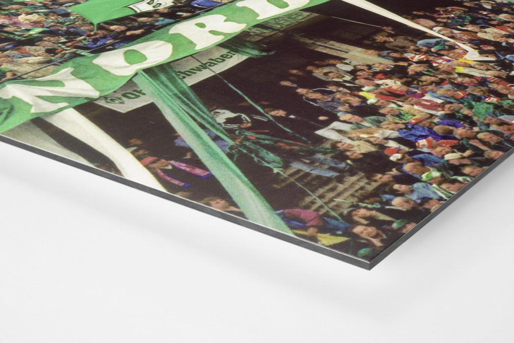 Bremen Fans 1999 als auf Alu-Dibond kaschierter Fotoabzug (Detail)