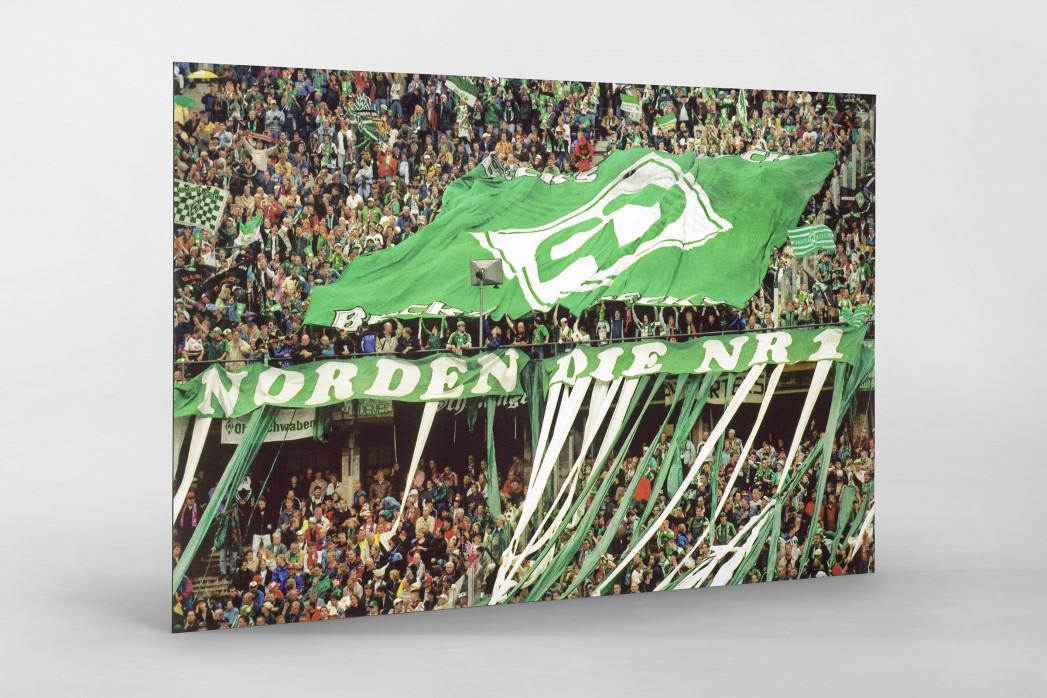 Bremen Fans 1999 als auf Alu-Dibond kaschierter Fotoabzug