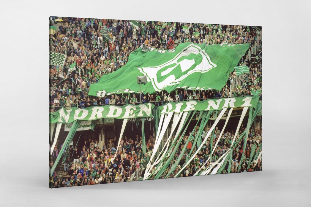 Bremen Fans 1999 als Leinwand auf Keilrahmen gezogen