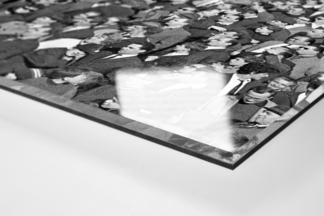Hannover Fans 1967 als Direktdruck auf Alu-Dibond hinter Acrylglas (Detail)