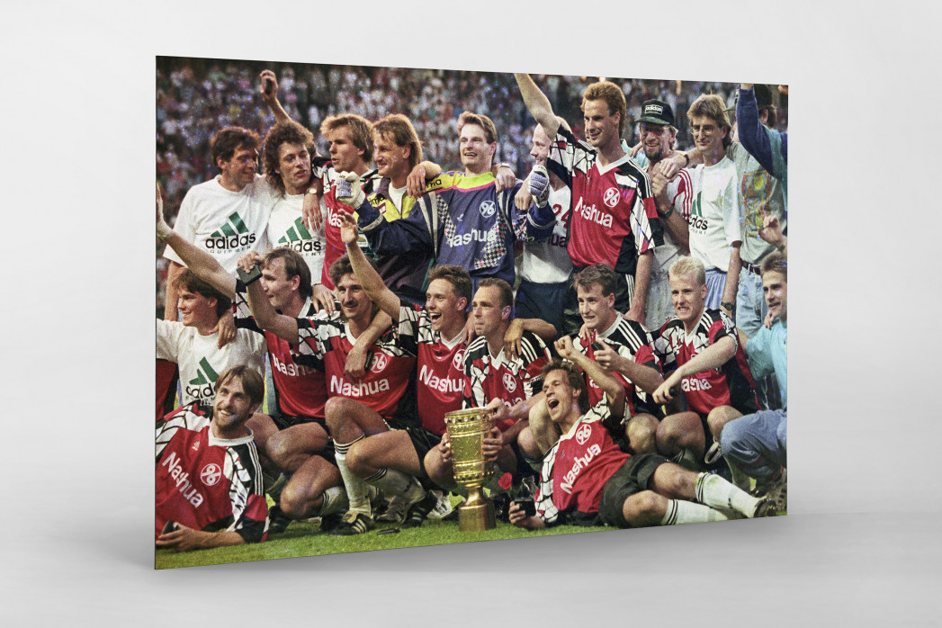 Hannoverscher Pokaljubel als auf Alu-Dibond kaschierter Fotoabzug
