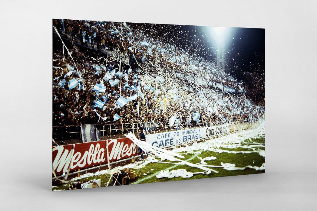 Argentinien Fans 1978 als auf Alu-Dibond kaschierter Fotoabzug