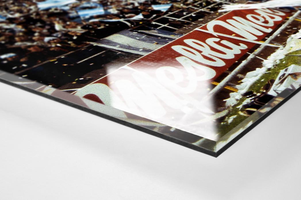 Argentinien Fans 1978 als Direktdruck auf Alu-Dibond hinter Acrylglas (Detail)