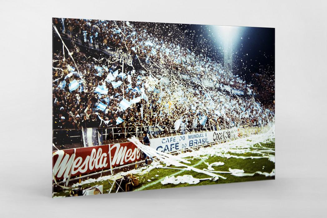 Argentinien Fans 1978 als Direktdruck auf Alu-Dibond hinter Acrylglas
