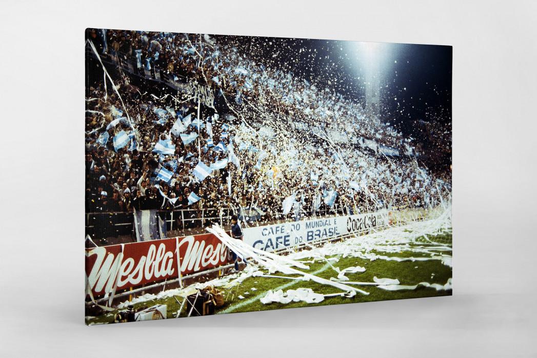 Argentinien Fans 1978 als Leinwand auf Keilrahmen gezogen