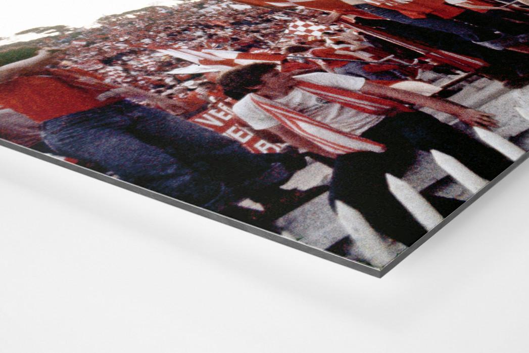 Liverpool Fans 1977 (1) als auf Alu-Dibond kaschierter Fotoabzug (Detail)