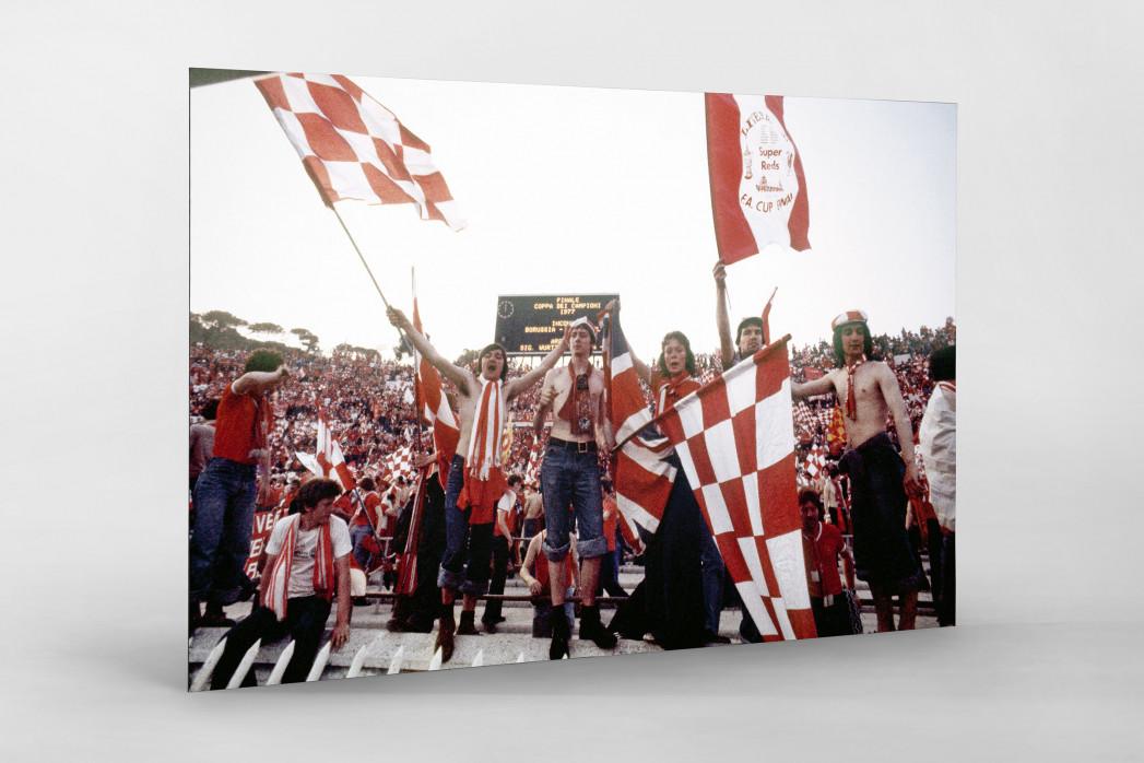 Liverpool Fans 1977 (1) als auf Alu-Dibond kaschierter Fotoabzug