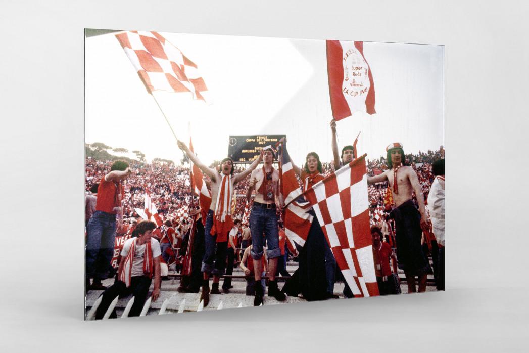 Liverpool Fans 1977 (1) als Direktdruck auf Alu-Dibond hinter Acrylglas