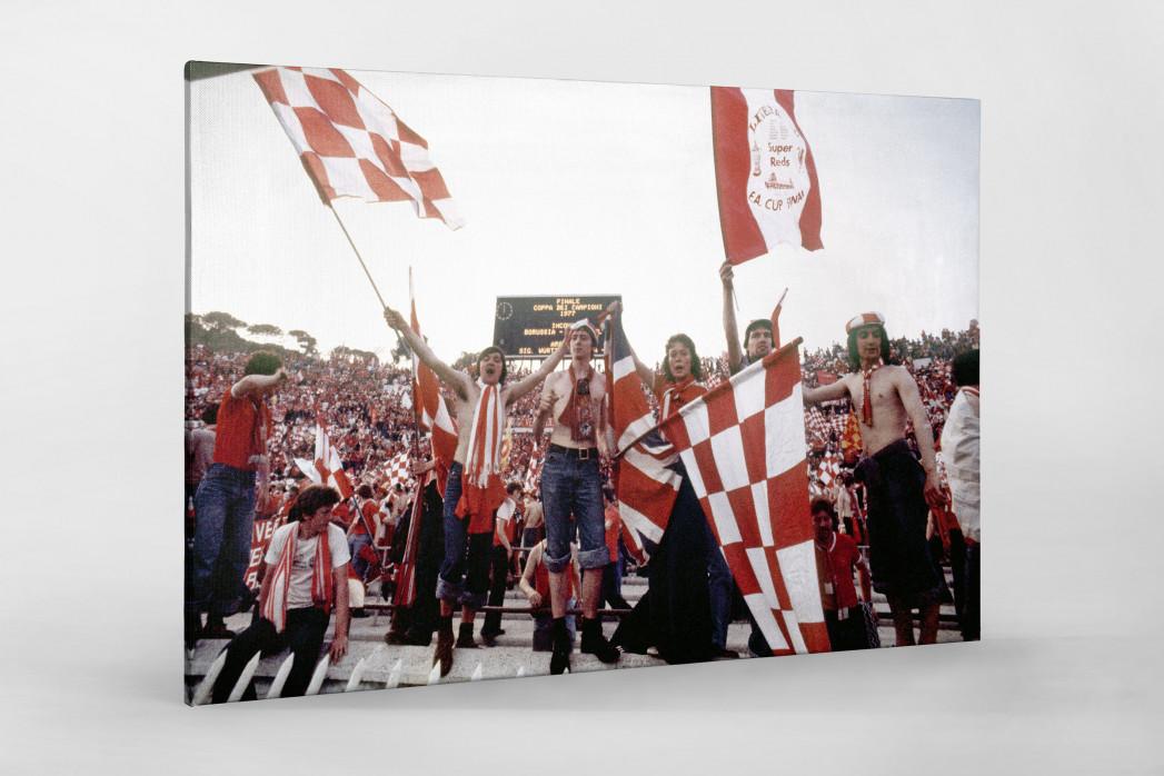 Liverpool Fans 1977 (1) als Leinwand auf Keilrahmen gezogen