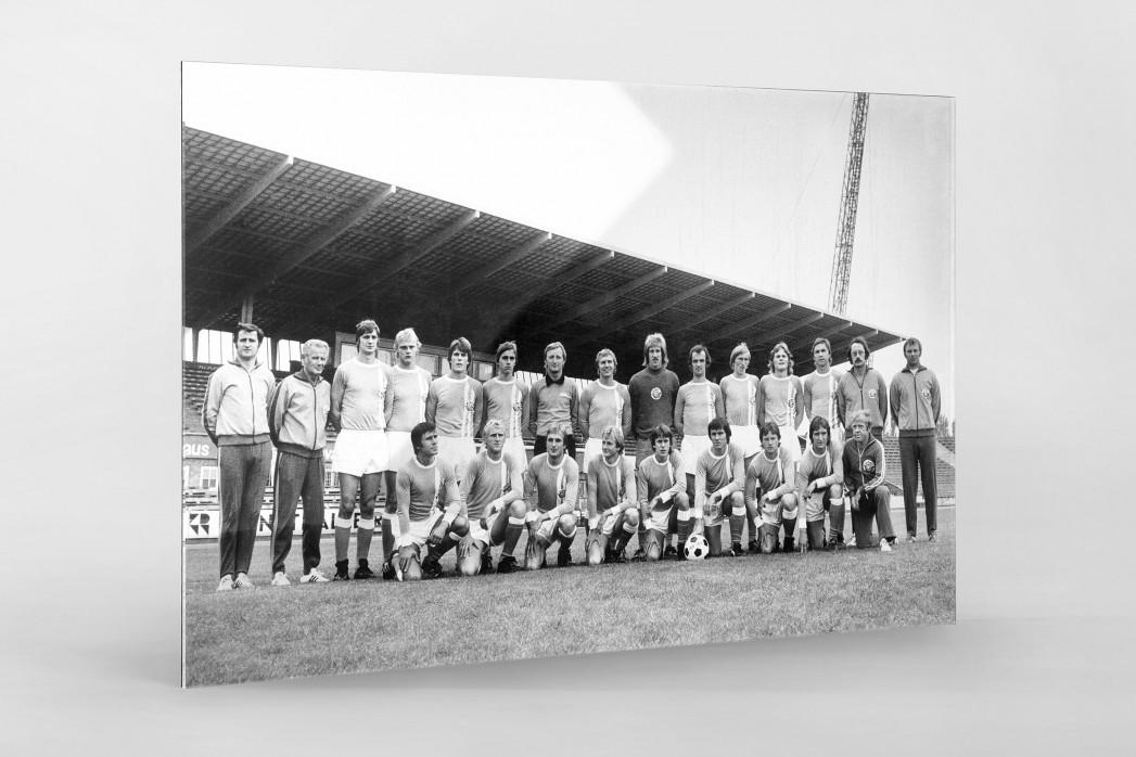 Hansa 1975/76 als Direktdruck auf Alu-Dibond hinter Acrylglas