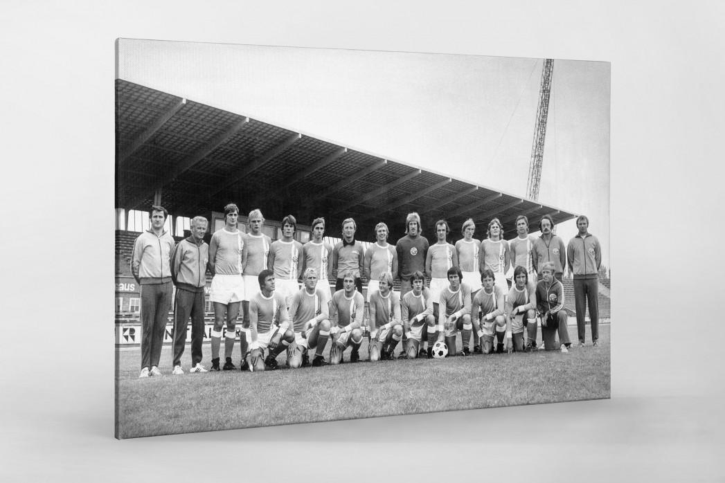 Hansa 1975/76 als Leinwand auf Keilrahmen gezogen