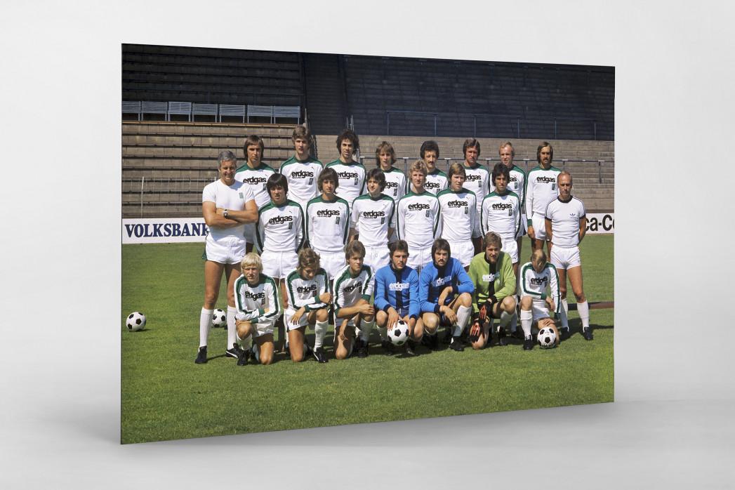 Mönchengladbach 1976/77 als auf Alu-Dibond kaschierter Fotoabzug