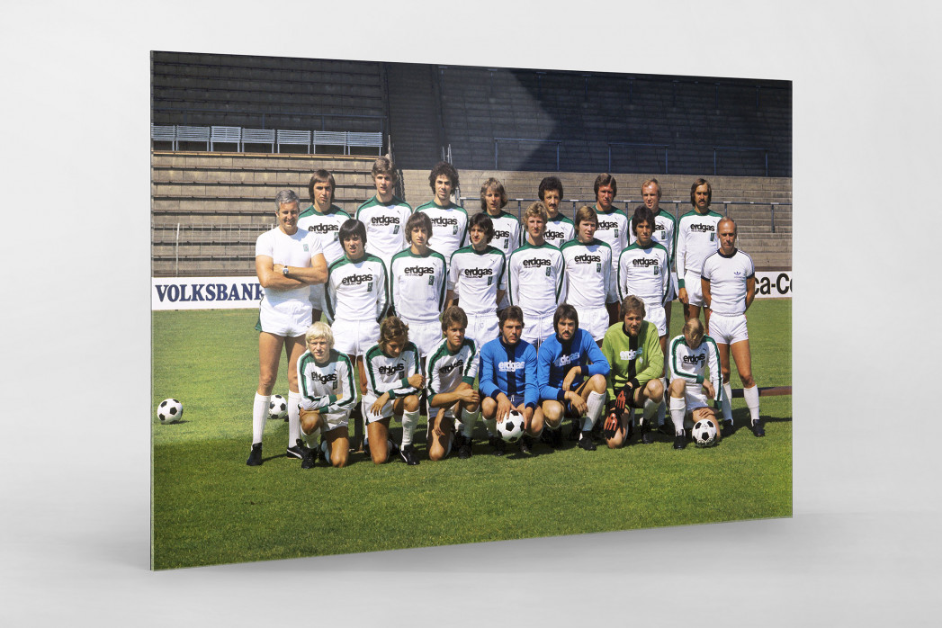 Mönchengladbach 1976/77 als Direktdruck auf Alu-Dibond hinter Acrylglas