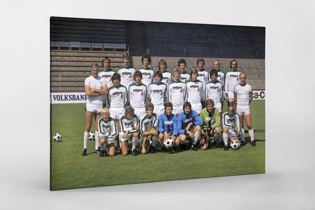 Mönchengladbach 1976/77 als Leinwand auf Keilrahmen gezogen