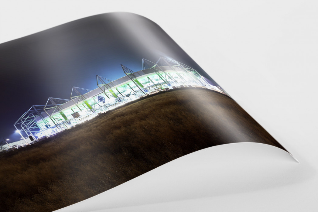 Borussia Park bei Flutlicht (Farbe) als FineArt-Print