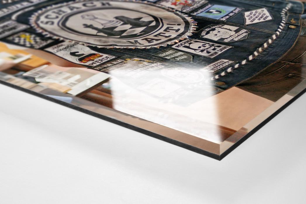 Kutte Schach als Direktdruck auf Alu-Dibond hinter Acrylglas (Detail)