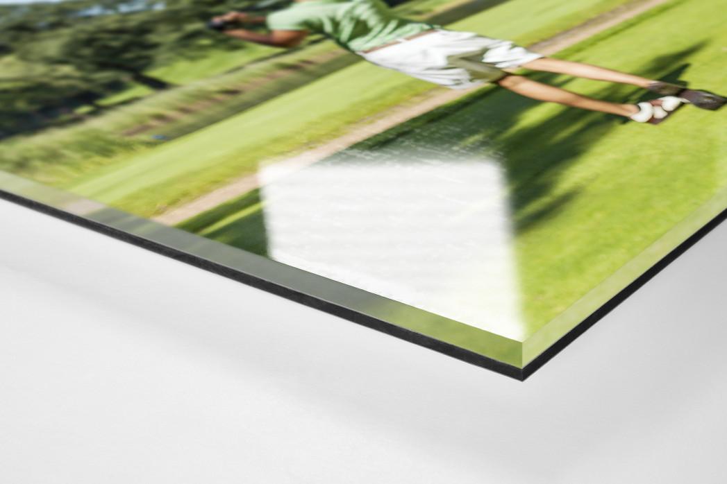Kutte Golf als Direktdruck auf Alu-Dibond hinter Acrylglas (Detail)