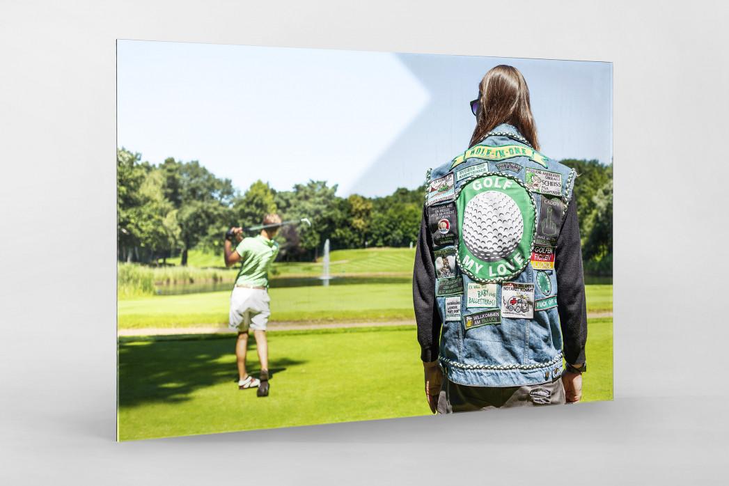 Kutte Golf als Direktdruck auf Alu-Dibond hinter Acrylglas