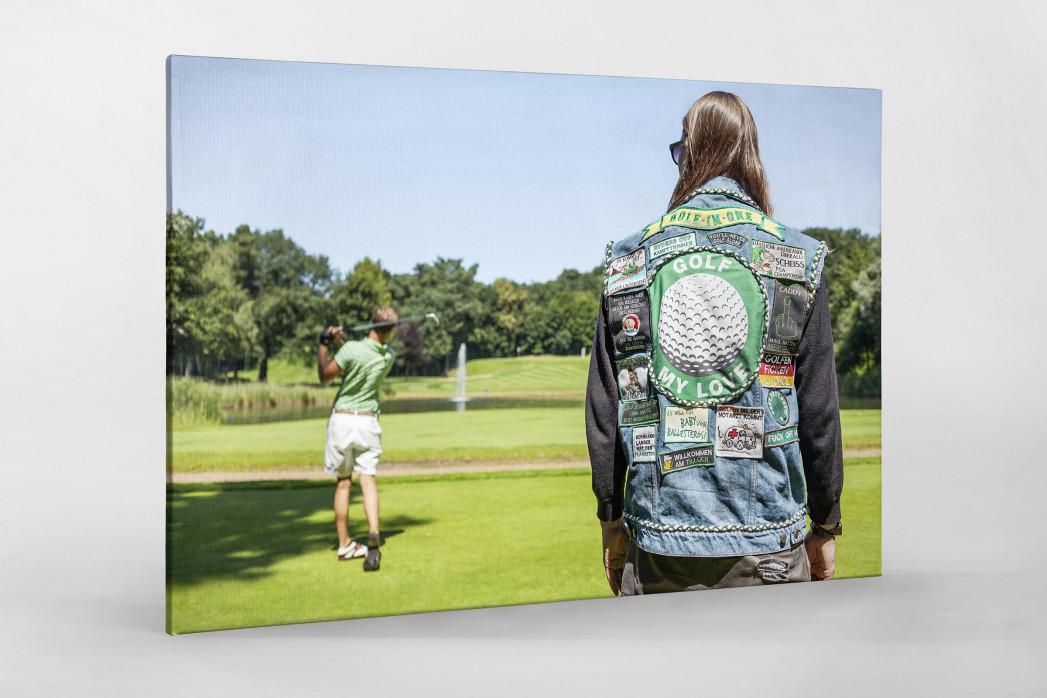 Kutte Golf als Leinwand auf Keilrahmen gezogen