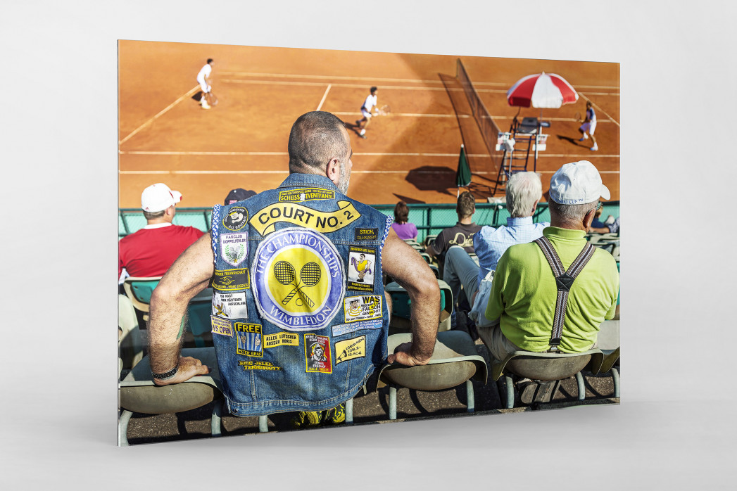 Kutte Tennis als Direktdruck auf Alu-Dibond hinter Acrylglas