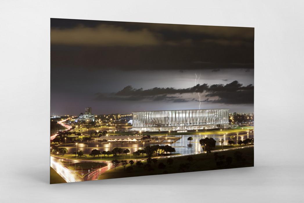 Estádio Nacional de Brasília am Abend als auf Alu-Dibond kaschierter Fotoabzug