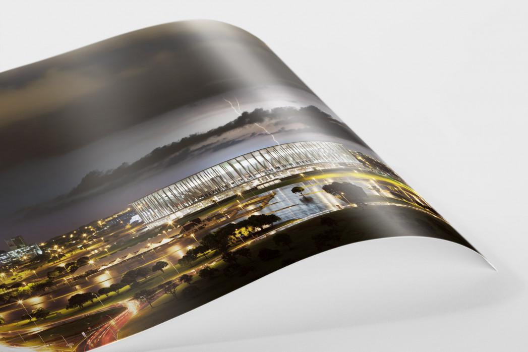 Estádio Nacional de Brasília am Abend als FineArt-Print