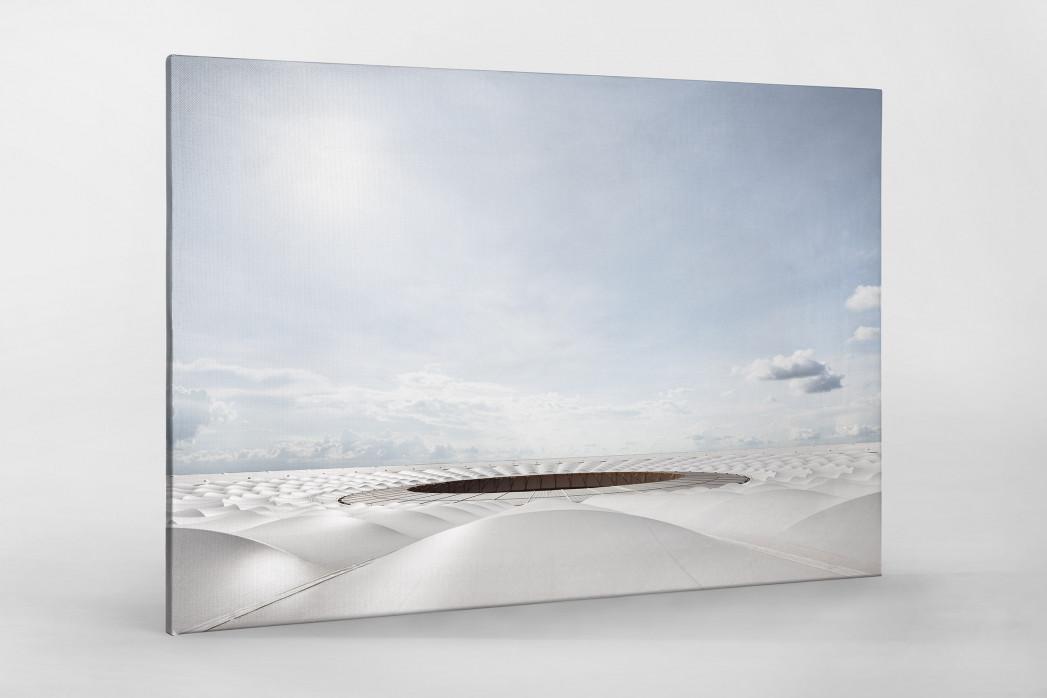 Stadiondach und Himmel in Brasília als Leinwand auf Keilrahmen gezogen
