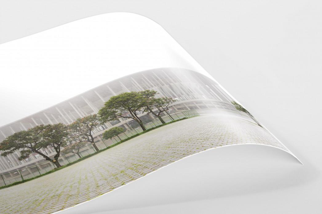 Estádio Nacional de Brasília im Nebel  als FineArt-Print