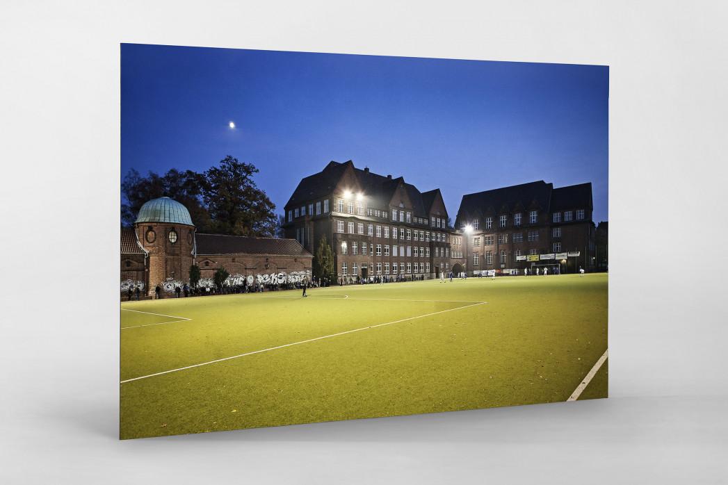Sportplatz Offenbacher Straße als auf Alu-Dibond kaschierter Fotoabzug