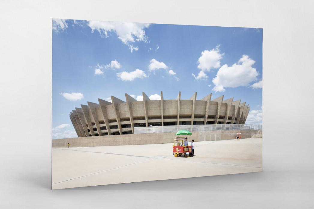 Imbiss vor dem Estádio Mineirão als auf Alu-Dibond kaschierter Fotoabzug