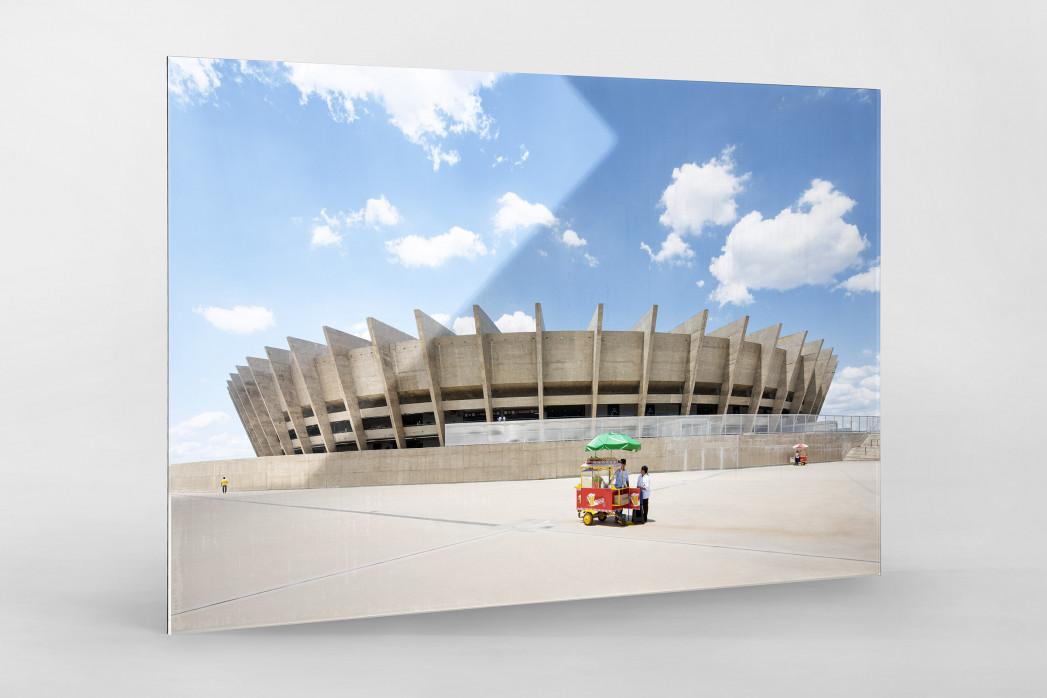 Imbiss vor dem Estádio Mineirão als Direktdruck auf Alu-Dibond hinter Acrylglas