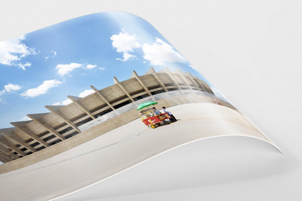 Imbiss vor dem Estádio Mineirão als FineArt-Print