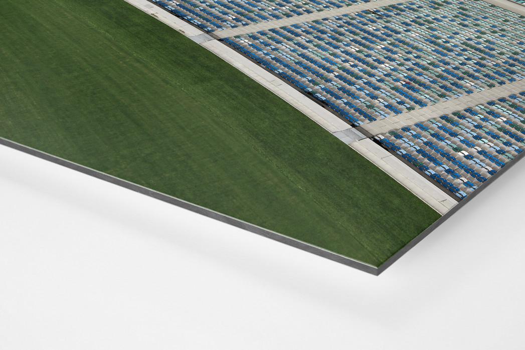 Stadiondach und Sitze in Durban als auf Alu-Dibond kaschierter Fotoabzug (Detail)