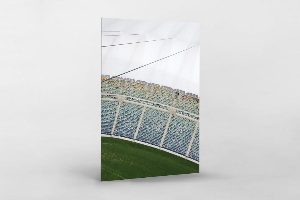 Stadiondach und Sitze in Durban als auf Alu-Dibond kaschierter Fotoabzug