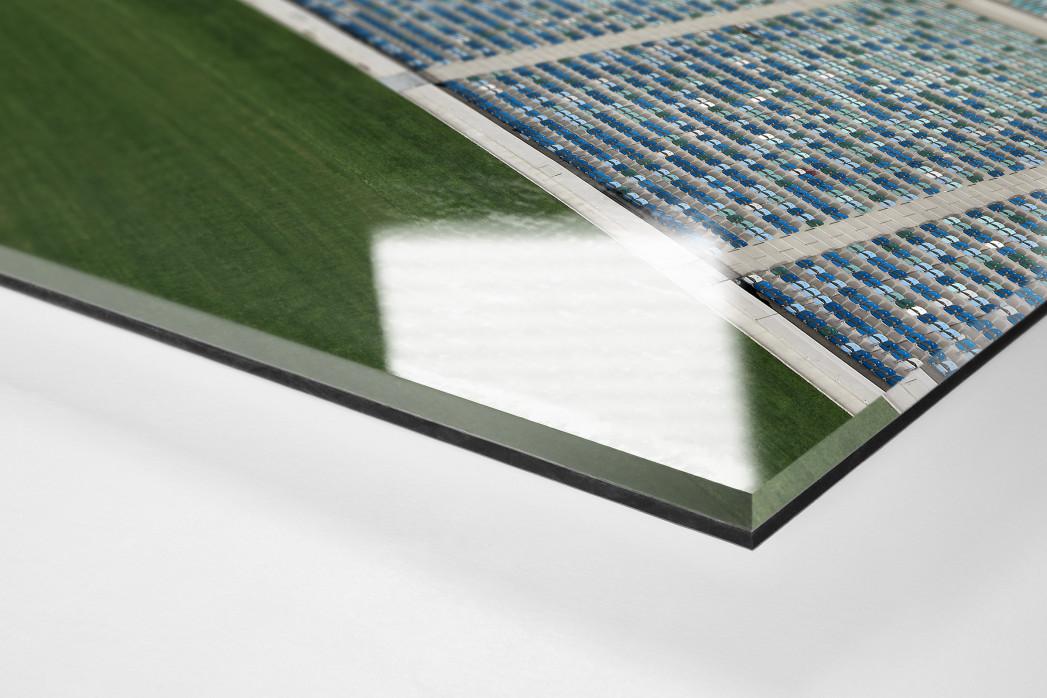 Stadiondach und Sitze in Durban als Direktdruck auf Alu-Dibond hinter Acrylglas (Detail)