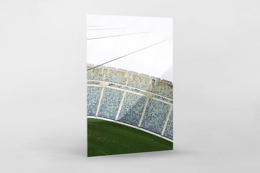 Stadiondach und Sitze in Durban als Direktdruck auf Alu-Dibond hinter Acrylglas