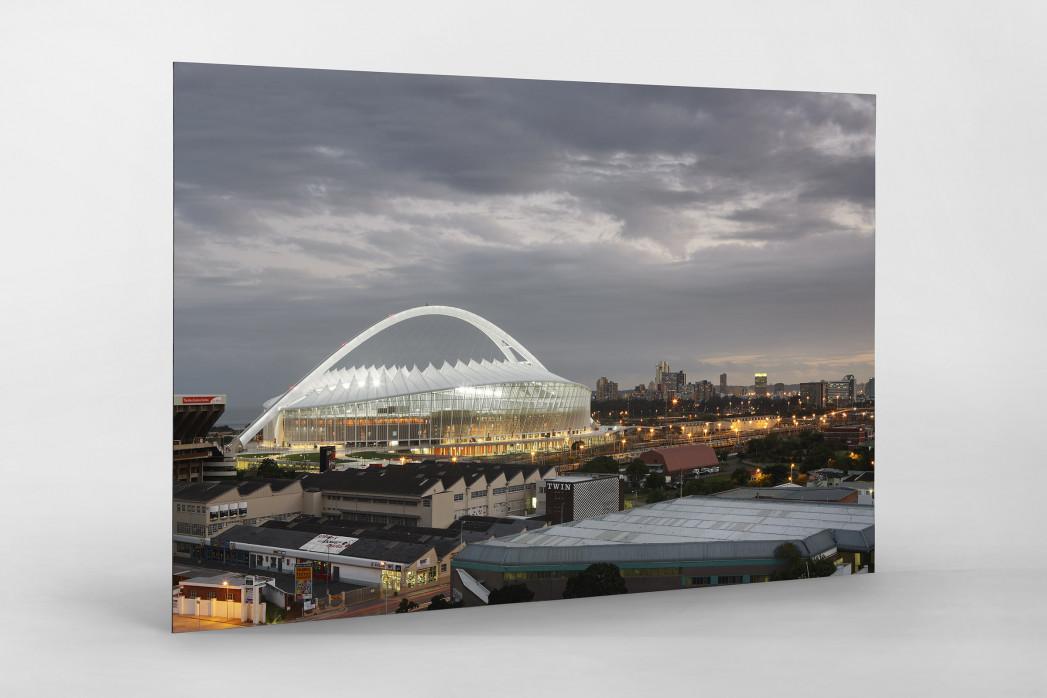 Moses-Mabhida-Stadion bei Dämmerung als auf Alu-Dibond kaschierter Fotoabzug