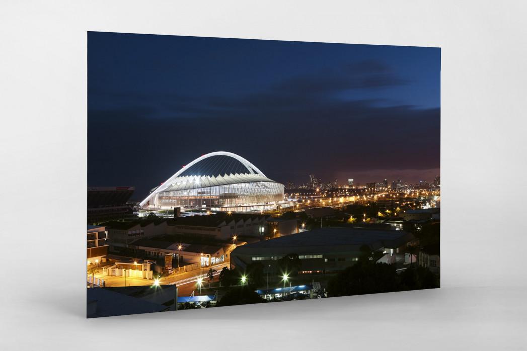Moses-Mabhida-Stadion bei Nacht als auf Alu-Dibond kaschierter Fotoabzug
