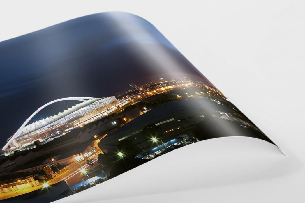 Moses-Mabhida-Stadion bei Nacht als FineArt-Print