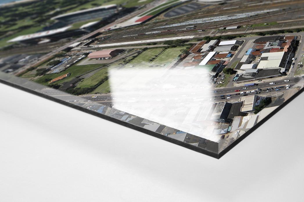 Moses-Mabhida-Stadion Vogelperspektive als Direktdruck auf Alu-Dibond hinter Acrylglas (Detail)