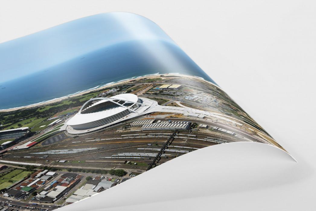 Moses-Mabhida-Stadion Vogelperspektive als FineArt-Print