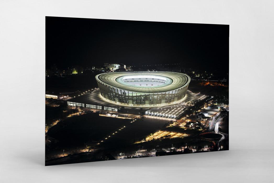 Cape Town Stadium bei Nacht als auf Alu-Dibond kaschierter Fotoabzug