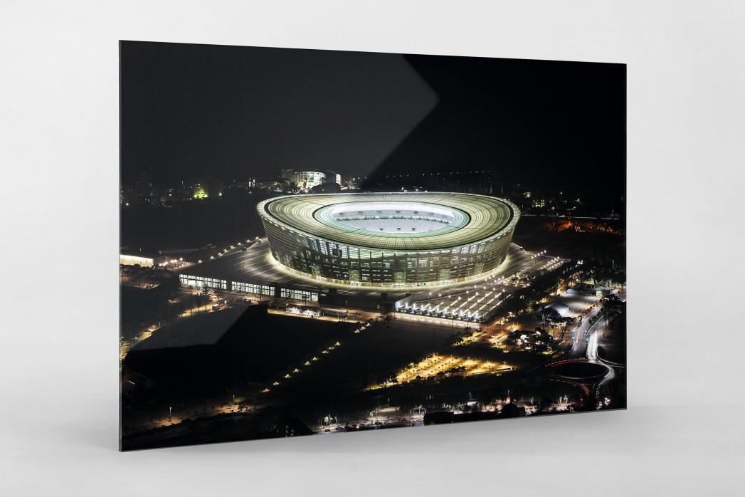 Cape Town Stadium bei Nacht als Direktdruck auf Alu-Dibond hinter Acrylglas
