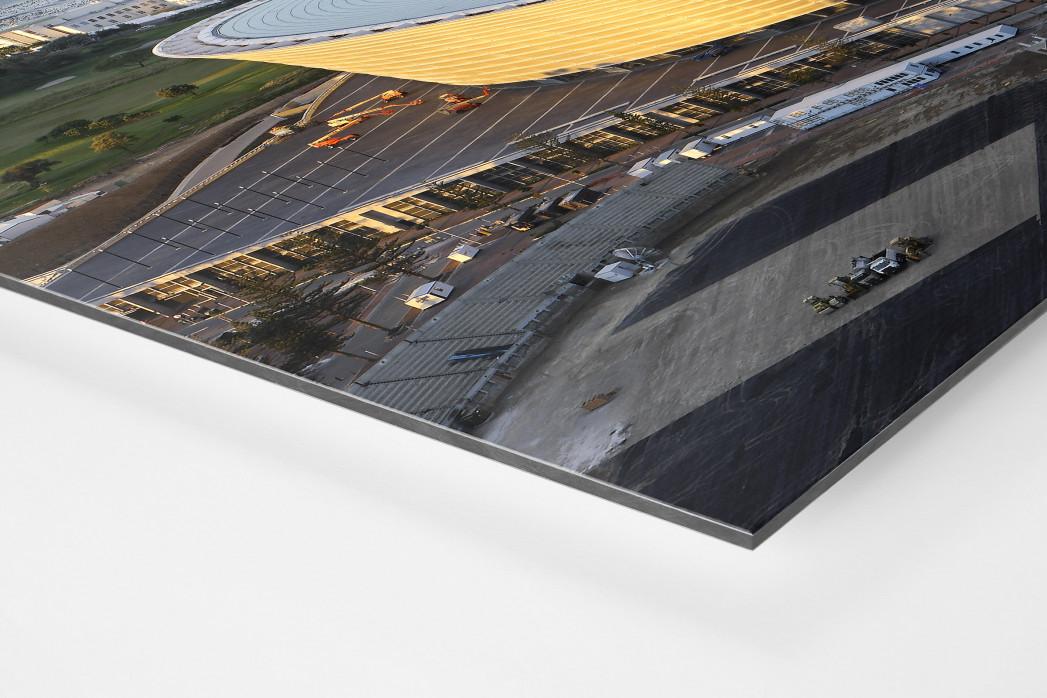 Cape Town Stadium und Segelboote als auf Alu-Dibond kaschierter Fotoabzug (Detail)