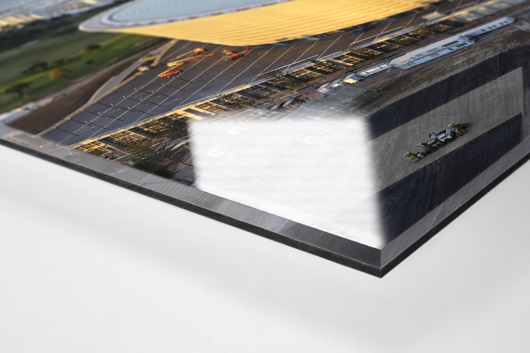 Cape Town Stadium und Segelboote als Direktdruck auf Alu-Dibond hinter Acrylglas (Detail)