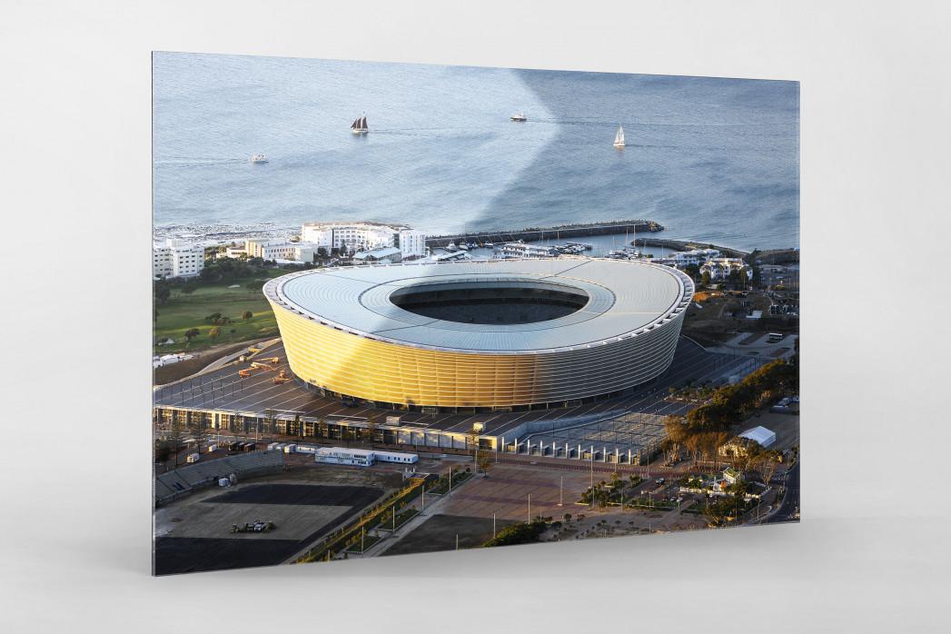 Cape Town Stadium und Segelboote als Direktdruck auf Alu-Dibond hinter Acrylglas
