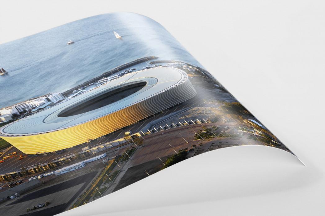 Cape Town Stadium und Segelboote als FineArt-Print
