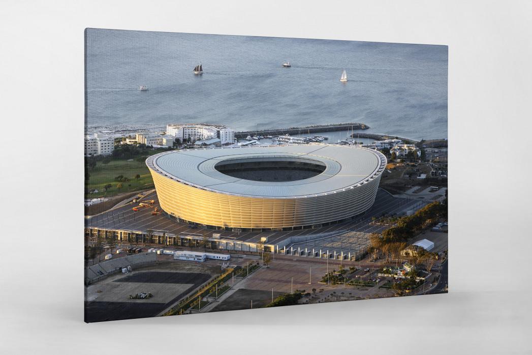 Cape Town Stadium und Segelboote als Leinwand auf Keilrahmen gezogen