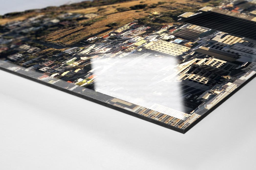 Cape Town Stadium mit Stadt und Meer als Direktdruck auf Alu-Dibond hinter Acrylglas (Detail)
